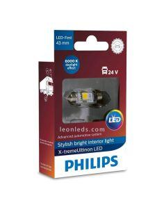 Bombilla LED 24V feeston 43mm de Philips Xtreme Ultinon | LeonLeds LED 24V