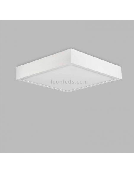 Plafón LED cuadrado 24W serie Saona de Mantra 6633 | LeonLeds Plafones LED