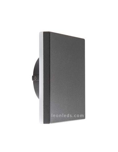 Apliques LED exterior cuadrado gris serie Bora de Mantra | LeonLeds Apliques LED