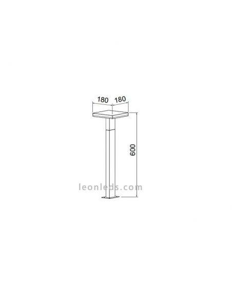 Dimensiones de Baliza LED exterior Tignes de Mantra 6498 | LeonLeds Balizas LED
