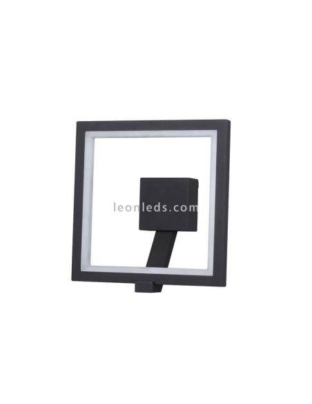 Aplique exterior cuadrado LED serie Rodas de Mantra 6470 | LeonLeds Apliques LED