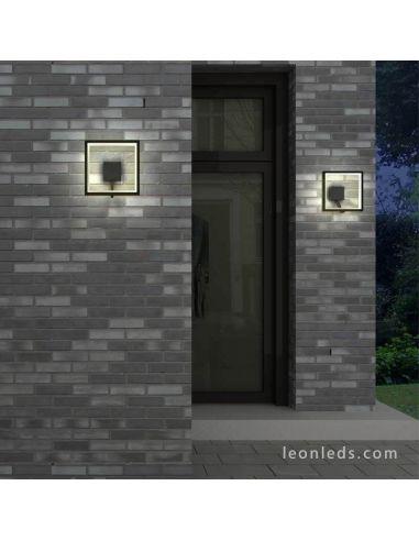 Aplique exterior LED cuadrado serie Rodas 6570 de Mantra | LeonLeds Apliques LED exterior