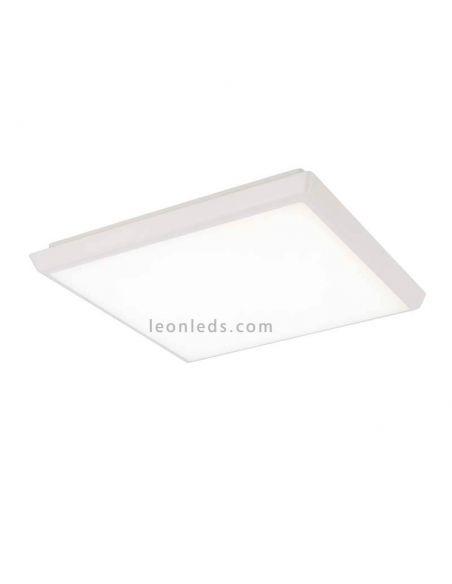 Plafón LED cuadrado para exterior 24W serie Aneto de Mantra 6488 | LeonLeds