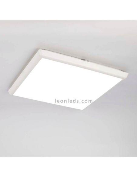 Plafon LED de exterior cuadrado 24W de la serie Aneto | LeonLeds Plafones LED