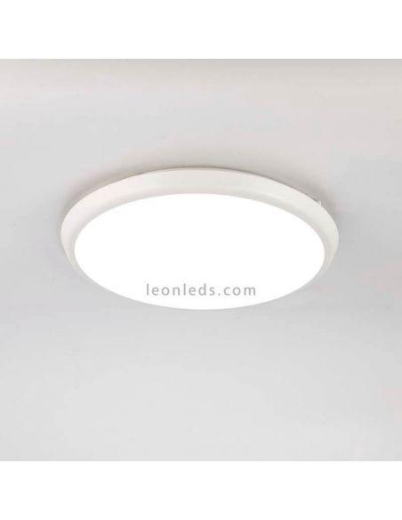 Plafón redondo LED exterior 24W de la serie Aneto de Mantra 6486   LeonLeds Iluminación