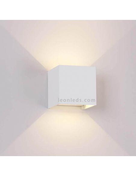 Aplique LED exterior cuadrado Davos 6520 6521 blanco | LeonLeds Apliques LED exterior