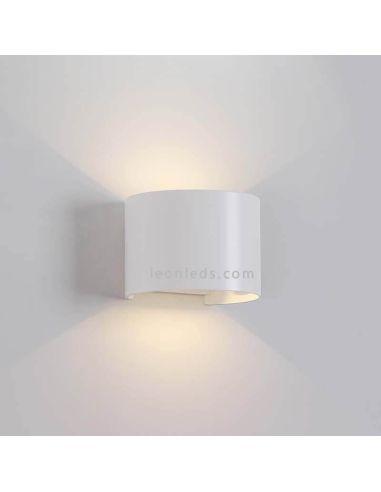 Aplique LED Blanco redondeado serie Davos de Mantra | LeonLeds Iluminación exterior
