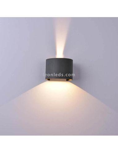 Aplique LED para exterior redondeado serie Davos de Mantra 6522 6523   LeonLeds Iluminación exterior