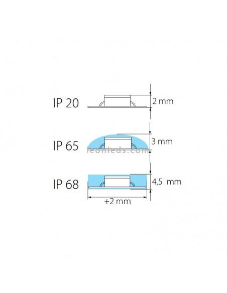 Tira de LED 3528 para interior y exterior | Tira de LED IP20 IP65 IP68 | Tira de LED IP68 para exterior | LeonLeds Iluminación
