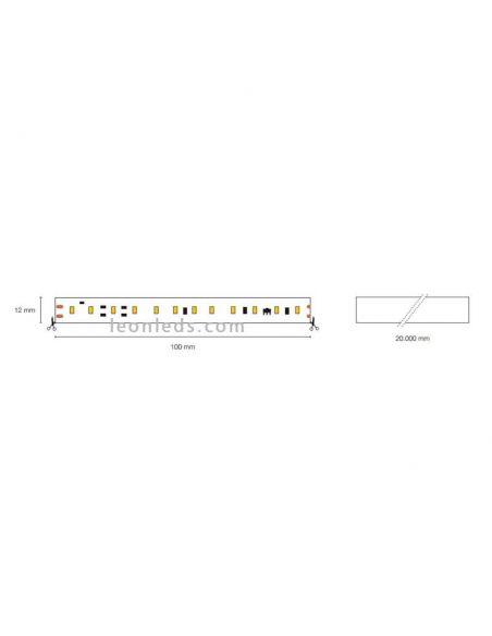 Tira LED alta potencia 220V corte cada 10Cm | LeonLeds Tiras LED
