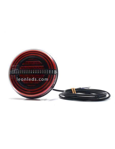 ✅ Piloto LED redondo trasero con luz antiniebla y marcha atras | LeonLeds Pilotos LED