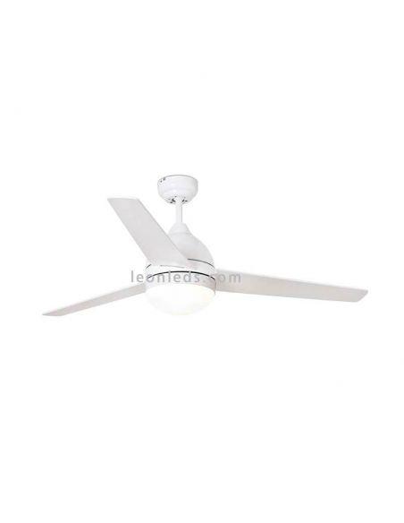 ✅ Ventilador de techo Blanco con luz Tabarca 33752 | LeonLeds Ventiladores de techo con luz