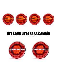 ✅ Kit de 6 Pilotos LED redondos traseros para remolques | LeonLeds Kit de Pilotros LED traseros