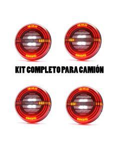 ✅ Kit de 4 Piloto LED traseros con 5 funciones con freno inteligente | LeonLeds Pilotos LED