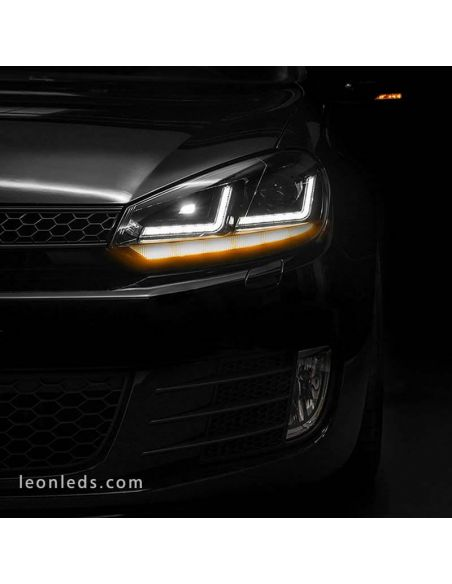 ✅ Faro LED delantero Golf 6 de Osram Homologado | LeonLEds Faros LED Golf 6