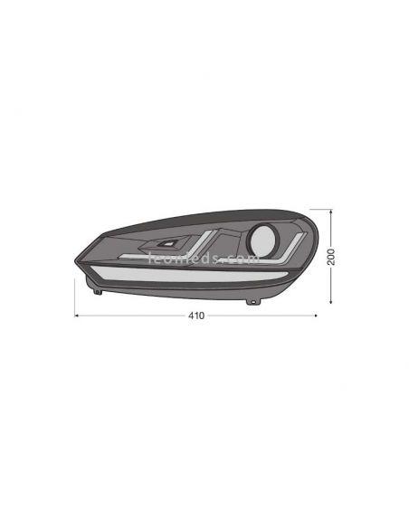 ✅ Dimensiones Faro LED Osram para Golf VI | LeonLeds Iluminación