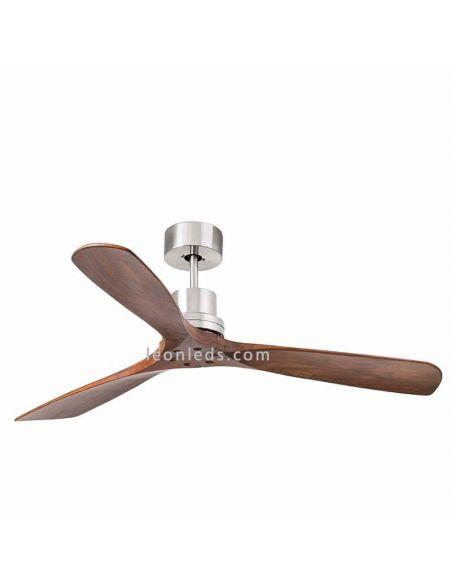 ✅ Ventilador de techo Lantau Nogal Oscuro 33370 | LeonLeds Ventiladores Faro