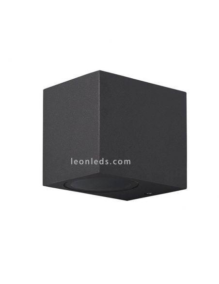 Aplique exterior Cubo gris oscuro Kadanchú | Leonleds