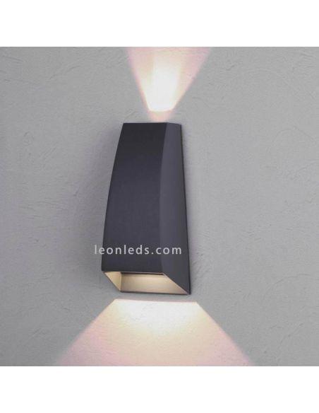Aplique LED encendido moderno serie Jackson de Mantra | LeonLeds Exterior LED