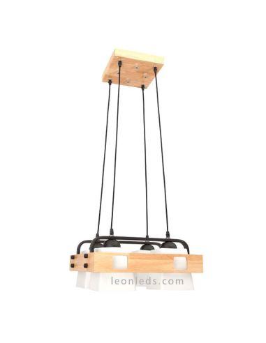 Lámpara techo estilo nordico Haya Blanca regulable | LeonLeds Lámparas Nordicas
