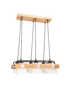 Lámpara nordica techo Arendal 6 Bombillas LED | LeonLeds Iluminación