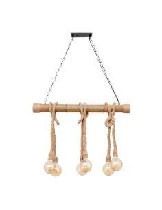 Lámpara colgante soga de 6 Bombillas estilo rustico   LeonLeds Lámparas Soga