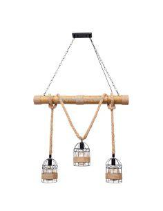 Lámpara cuerda Cañamo estilo rustico | LeonLeds Lámparas cuerda cañamo