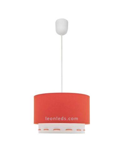 Lámpara de techo naranja y blanca Trazos | LeonLeds Iluminación