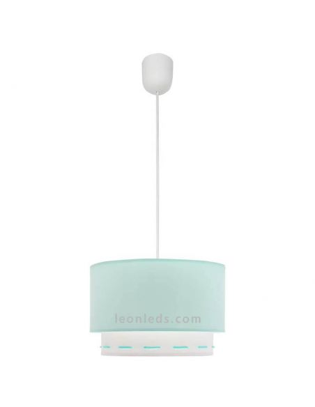 Lámpara de Techo Verde Agua | LeonLeds Lámparas verde agua