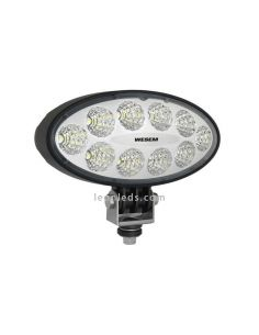 Faro Ovalado LED para tractor cosechadora 12/24 V Lente Transparente Wesem 2200Lm | LeonLeds Iluminación