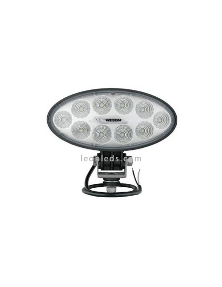 Faro Ovalado LED para tractor cosechadora 12/24 V Lente Transparente Wesem 3000Lm | LeonLeds Iluminación