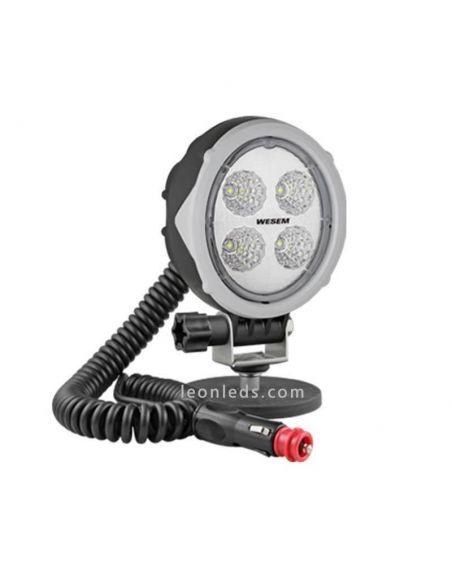 Faro ovalado LED magnético 12/24 V Lente Transparente imán Conector Mechero Imantado Interruptor Mango | LeonLeds