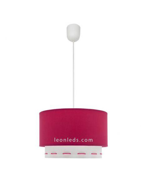 Lámpara de techo rosa oscura serie Trazos | LeonLeds Lámparas