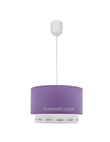 Lámpara de techo Lila Trazos | LeonLeds Lámparas