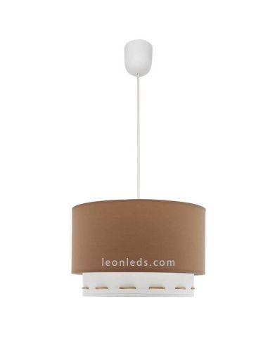 Lámpara de Techo Marron y Blanca Trazos | LeonLeds Lámparas de Techo