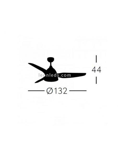 Dimensiones de Ventilador de Techo Autan Blanco   LeonLeds Ventiladores de Techo con Luz