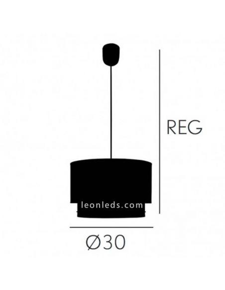 Dimensiones de Lámpara de techo Rosa serie Trazos | LeonLeds Lámparas de Techo
