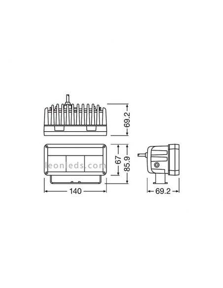 ✅ Dimensiones de Barra LED 4x4 LED Homologada de Osram al mejor precio LEDDL102-SP | LeonLeds.com