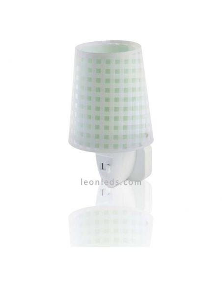 Luz de noche LED verde serie Vichy | LeonLeds