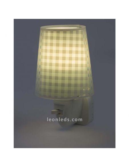 Luz de noche LED verde serie Vichy de Dalber | LeonLeds