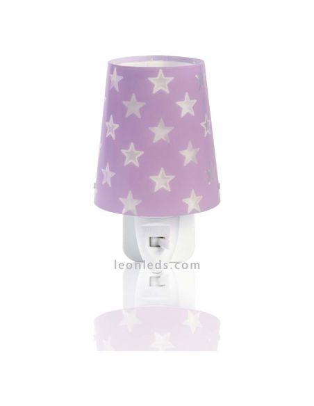 Luz de noche LED serie Stars Malva   LeonLEDS