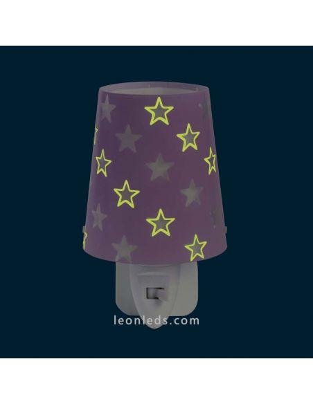 Luz de noche LED Malva serie Stars   LeonLeds