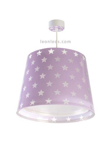 Lámpara de Techo Infantil Malva serie Stars | LeonLeds