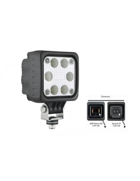 Faro de trabajo LED cuadrado de Was potente barato | Faro LED para tractor cuadrado | LeonLeds