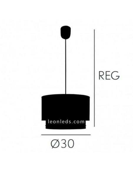 Dimensiones de Lámpara de techo Lila Trazos