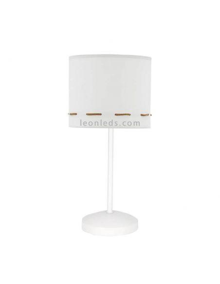 Lámpara de sobremesa Marrón serie Trazos Marrón y Blanca
