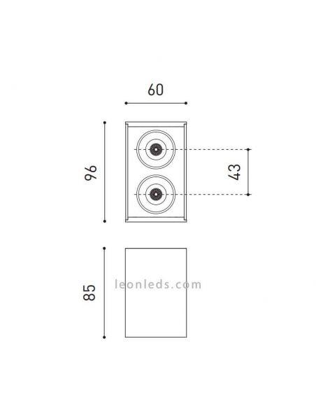 Dimensiones de Black Foster Surface 2 ArkosLight