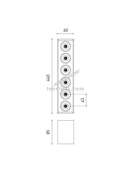 Dimensiones de Black Foster Surface 10 ArkosLight