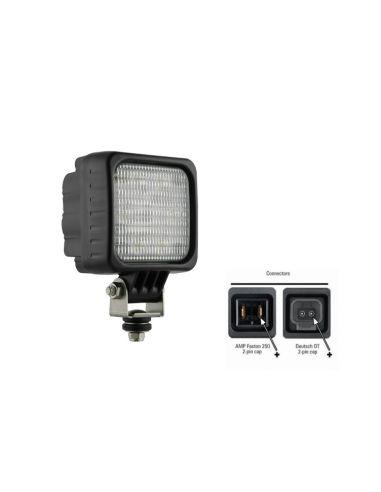 Faro de trabajo LED cuadrado con Lente Opaca Potente | Faro LED para tractor sin interferencias | LeonLeds Iluminación