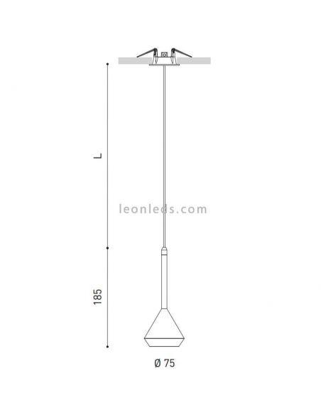Dimensiones de Spin de ArkosLight 3 metros